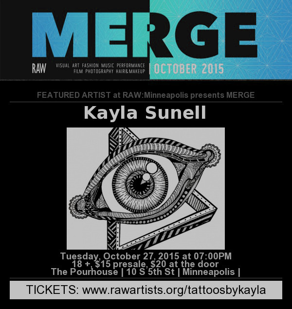 RAW:MINNEAPOLIS PRESENTS MERGE OCTOBER 27TH PM 7:00PM CDT | THE POURHOUSE 21+ EVENT | TICKETS $15 PR