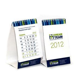 календари перекидные и объемные с фирменным логотипом
