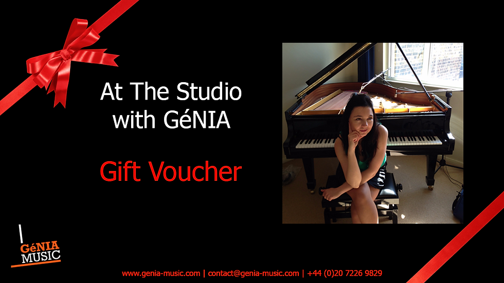 At the Studio with GéNIA Experience Voucher