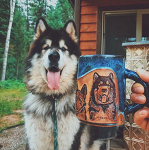 Alex got some awesome shots of the pups with her new dog mug! _miakodaleather ..jpg