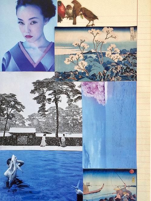 Collage sur papier