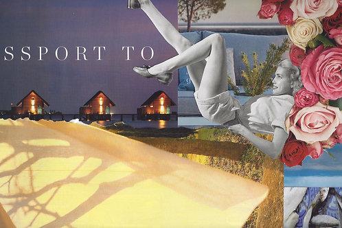 """Passport to"" Collage papier"