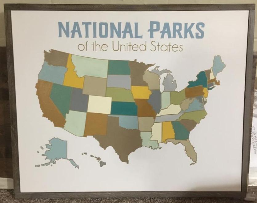 National Parks Pin Holder