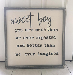 Sign for Baby Shower/Room