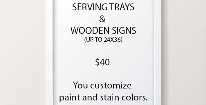 Trays and Signs