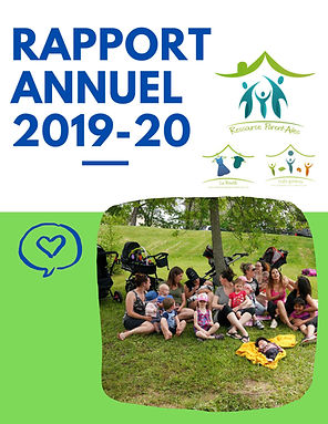 Page couverture Rapport annuel 2019-2020
