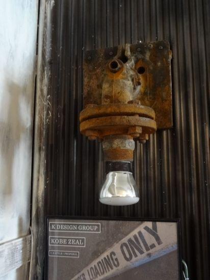 工場の配管加工照明