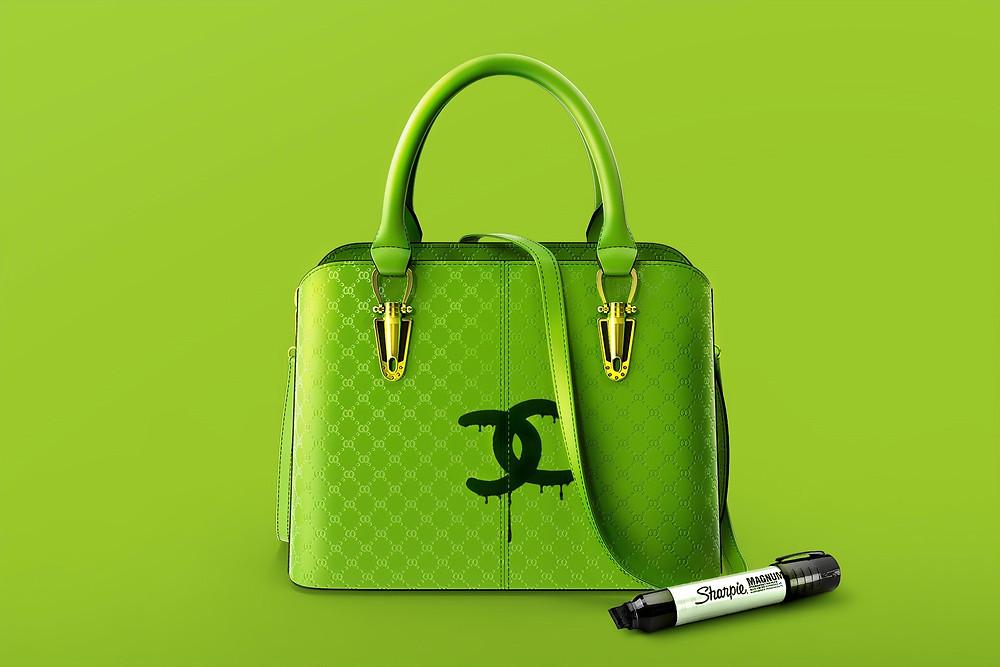 Green bag vandalised