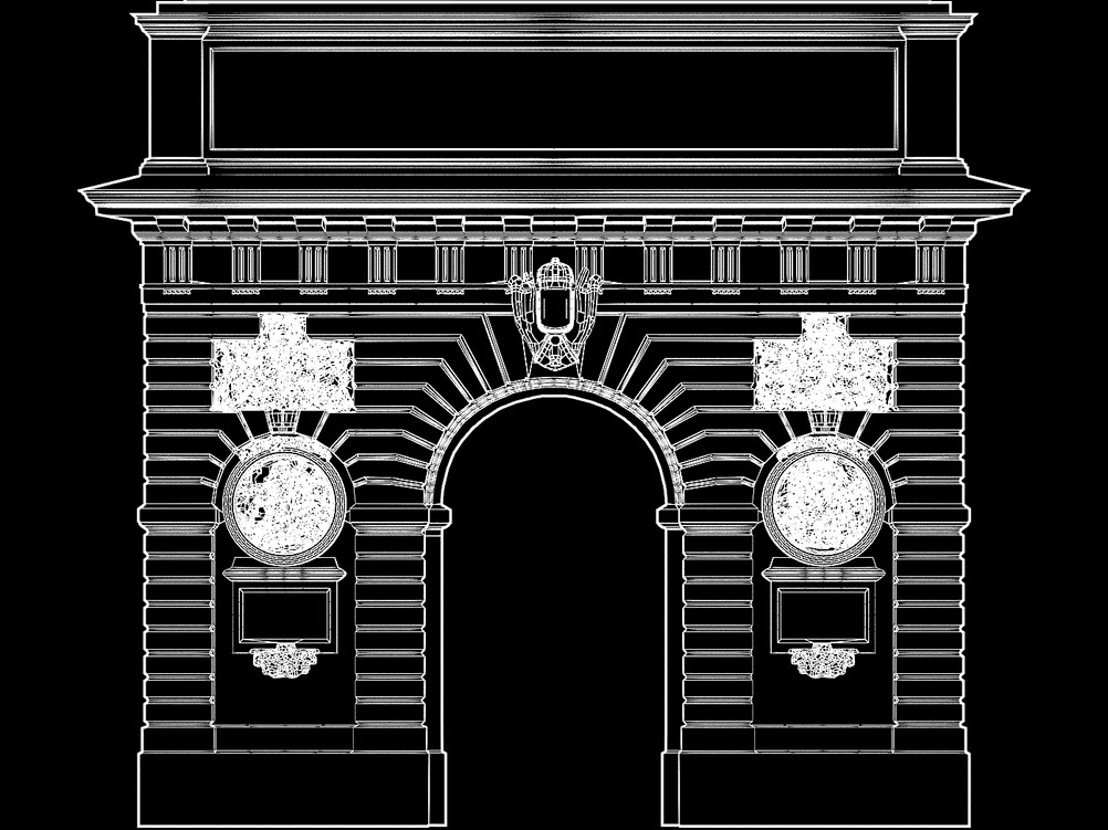 Video-mapping architectural