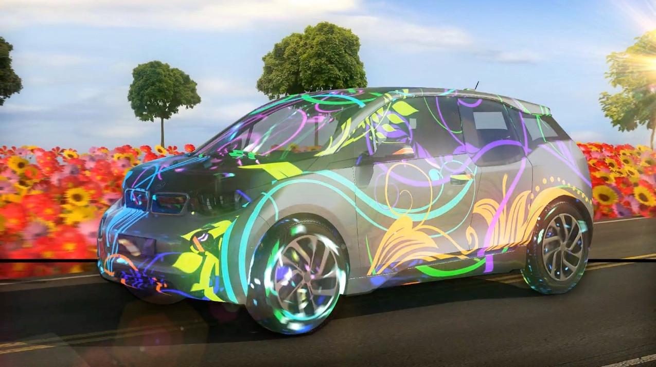 Vidéo-mapping automobile