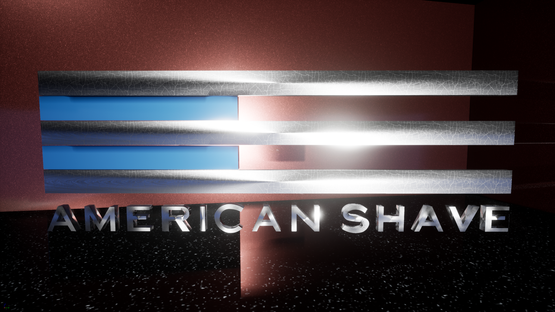 American Shave 3d logo