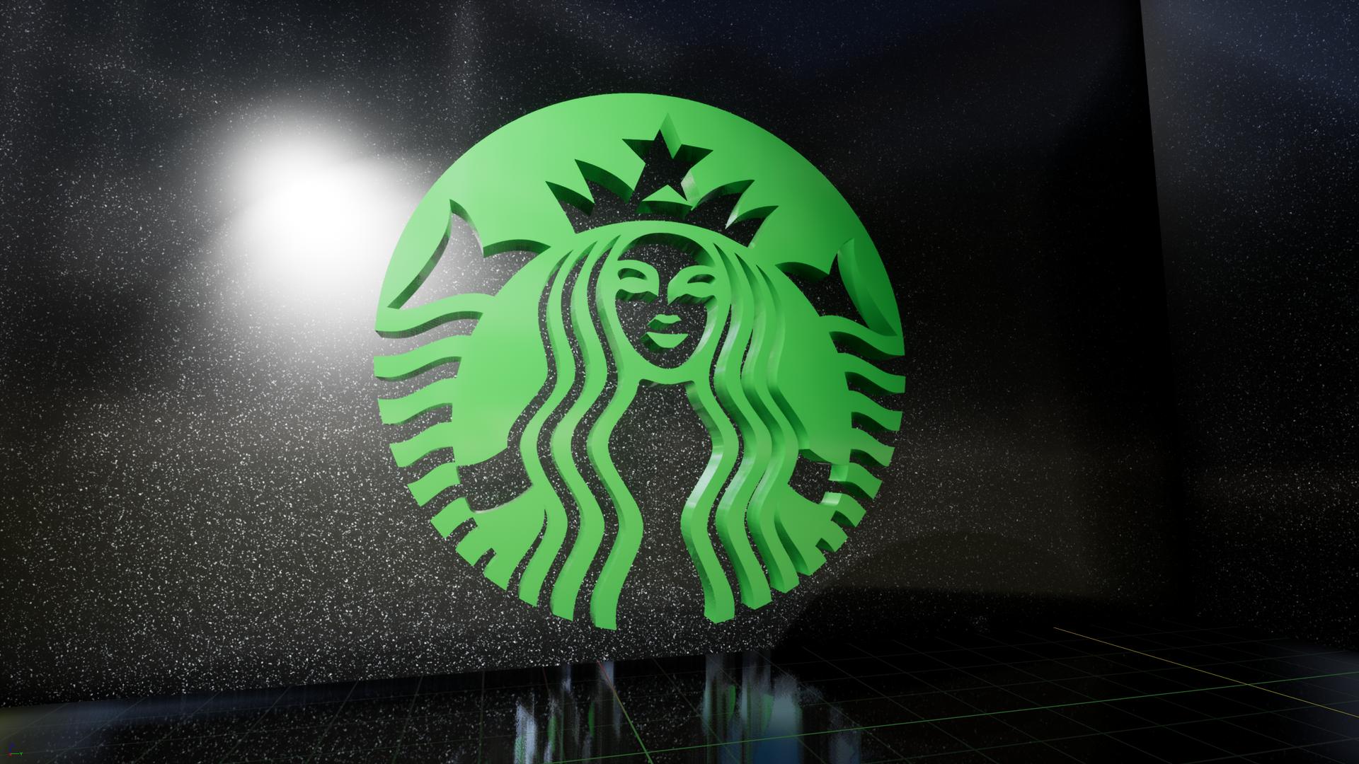 Starbucks 3D logo