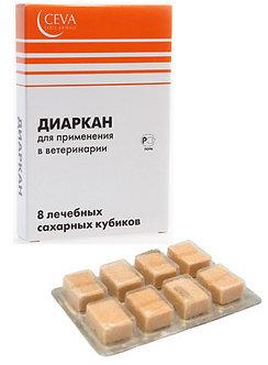 Диаркан 8 лечебных сахарных кубиков