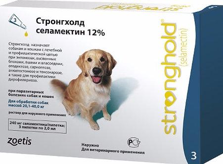 Капли на холку Стронгхолд для собак от 20 до 40 кг 1 пипетка