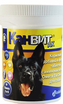 Канвит АК кормовая добавка для собак, 80 таб