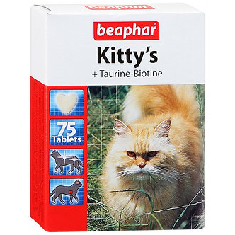 Беафар Витамины для кошек с Таурином и Биотином, 75 таб.
