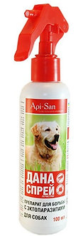 Дана-спрей для борьбы с эктопаразитами для собак, 100 мл.