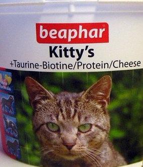Беафар Киттис  Таурин, Биотин, Протеин Сыр для кошек 750 таб.