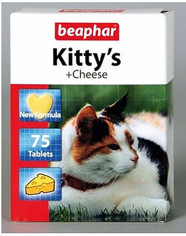 Беафар витамины Kitty''s+Cheese лакомство для кошек с сыром, 75 таб