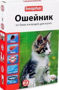 БЕАФАР  ошейник для котят против блох и клещей, 36 см