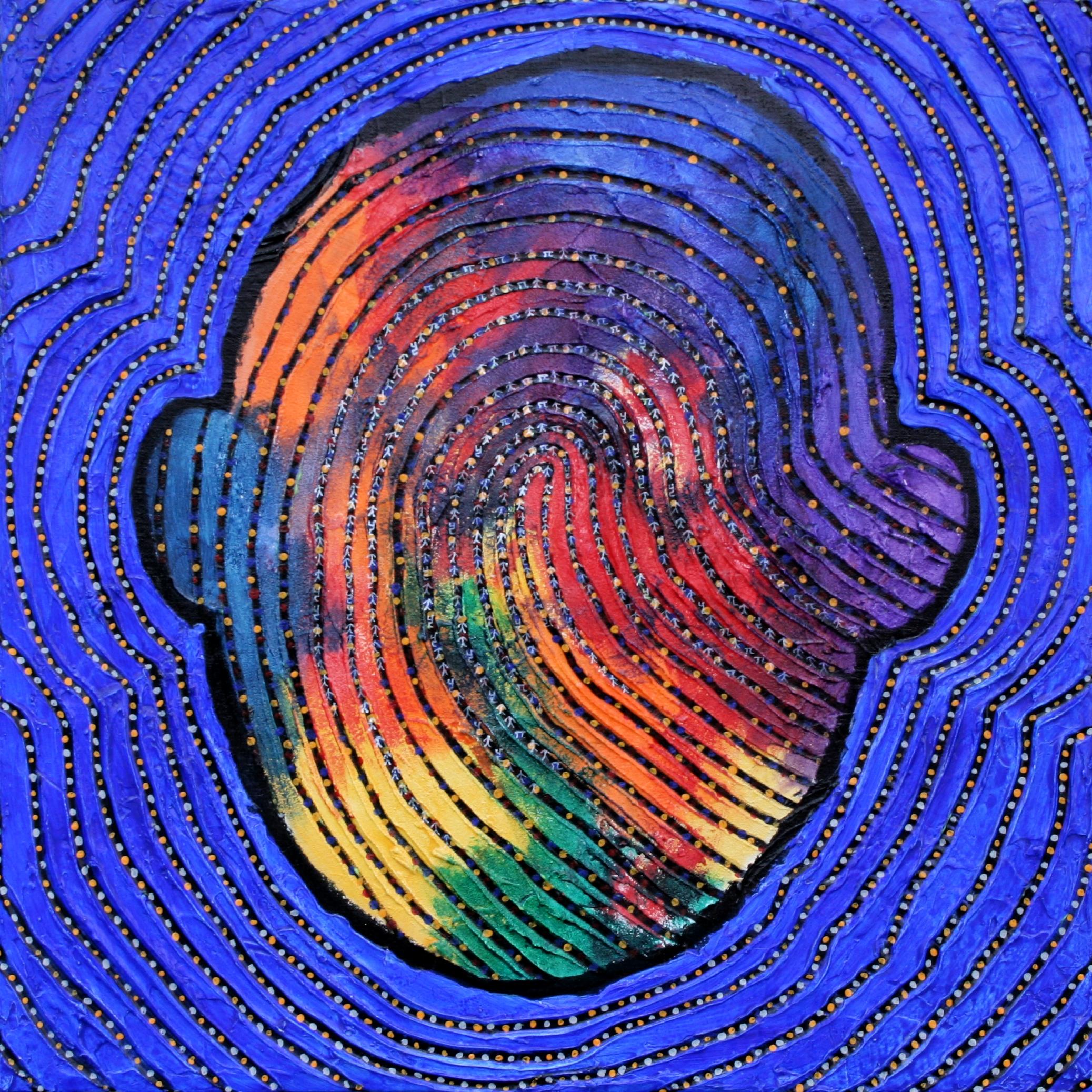 I am that I am-B 70 x 70cm Acrylic on canvas 2015