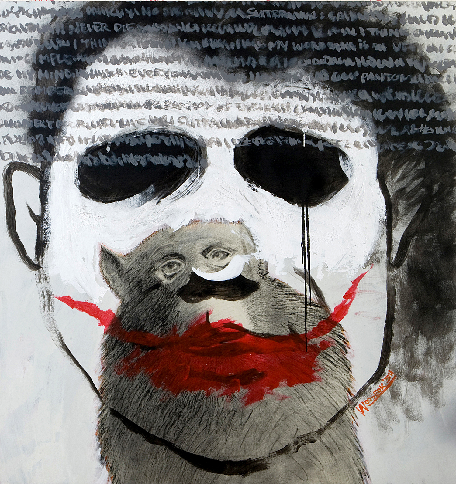 Why so serious Mixed Media    135 x 126cm 2012