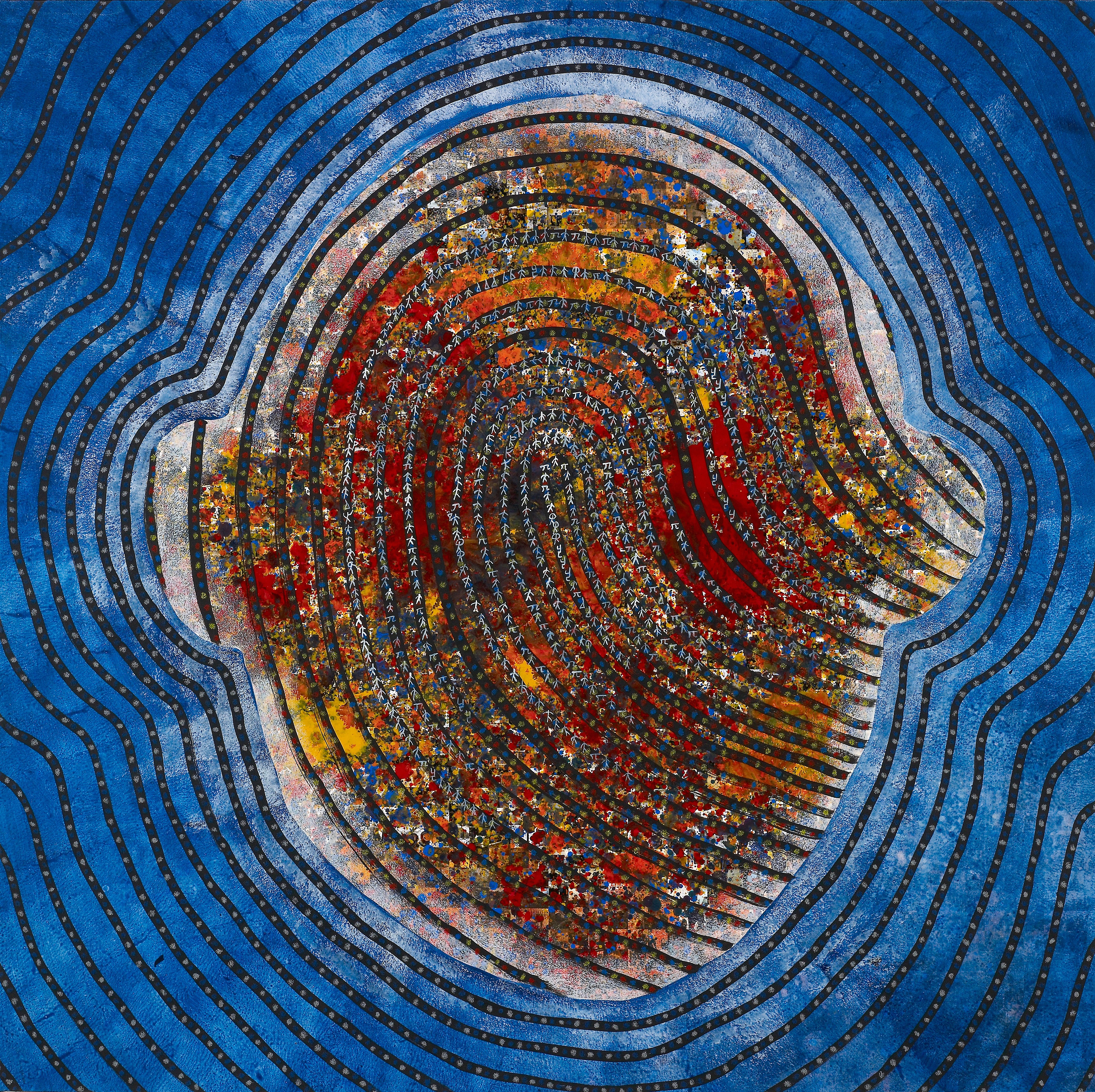 see the finger print see the perfection6 97.5 x 97.5cm Acrylic on digital printing 2016