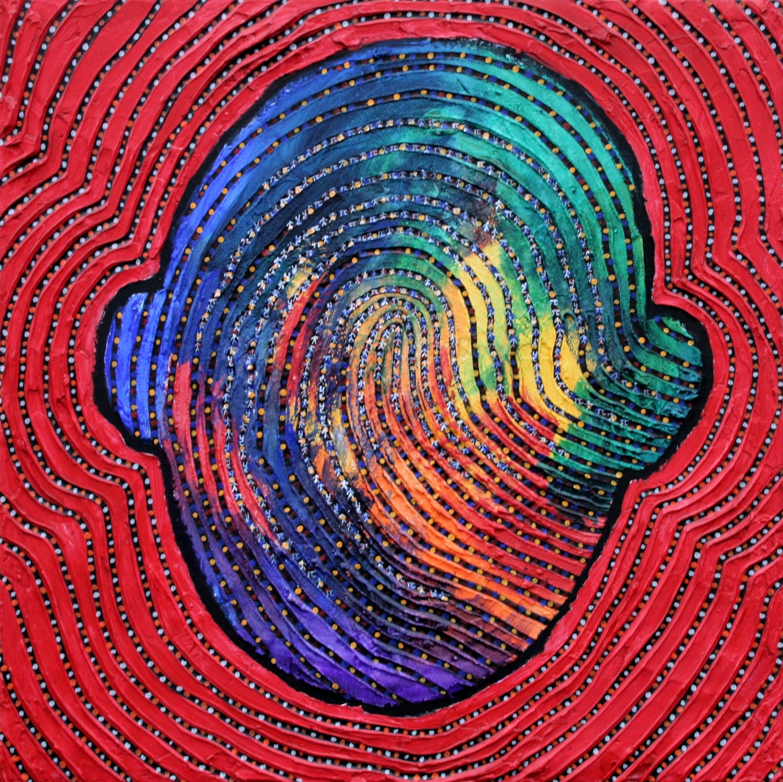 I am that I am-R 70 x 70cm Acrylic on canvas 2015