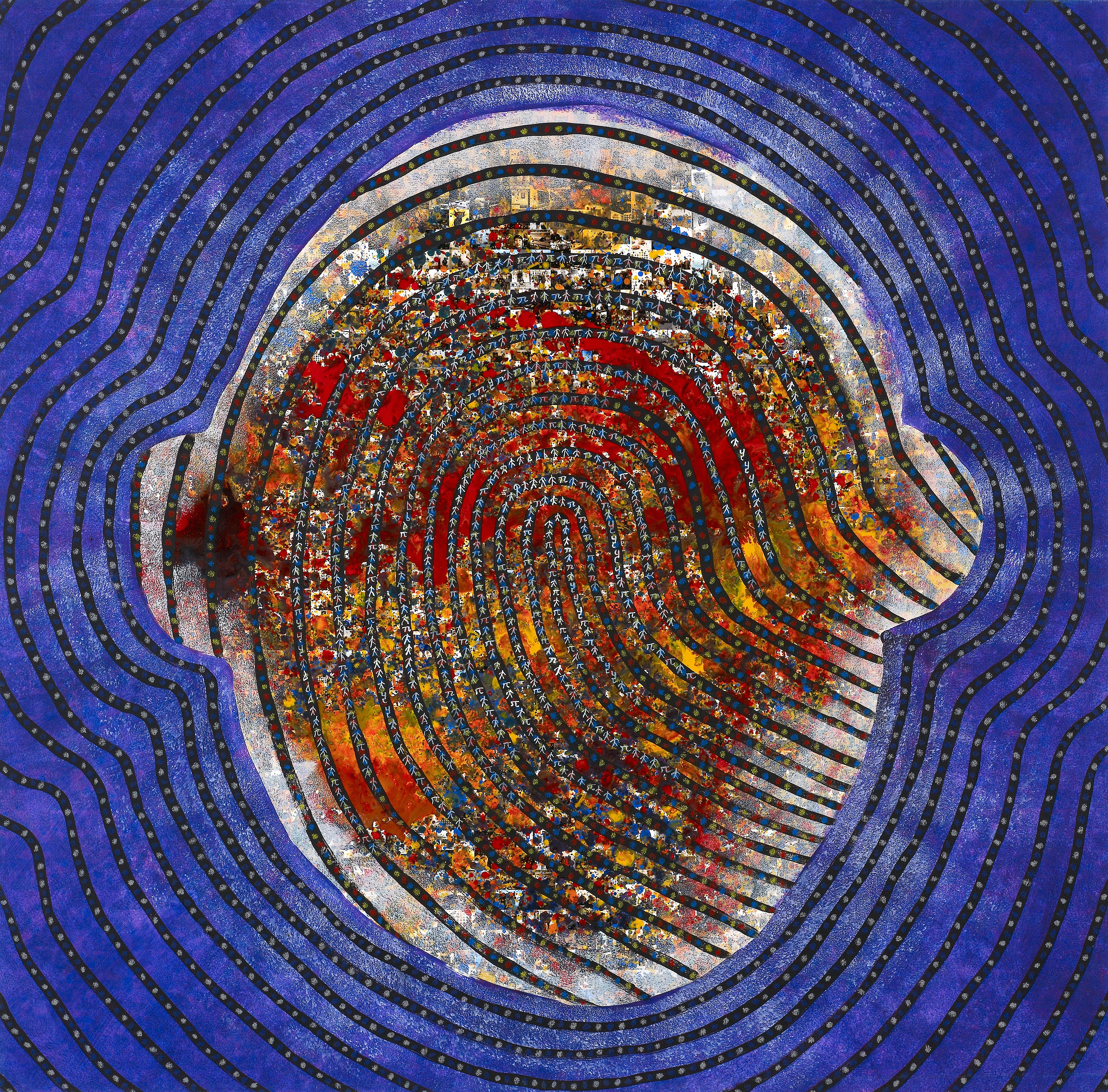see the finger print see the perfection7 97.5 x 97.5cm Acrylic on digital printing 2016