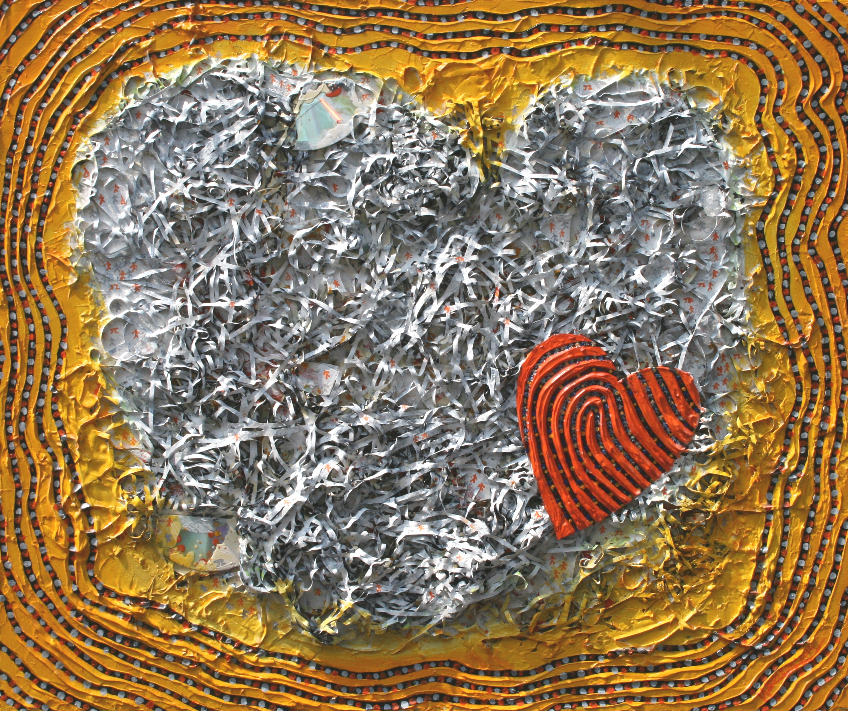 25M-12 Love is all there is 77 x 65cm Mixed Media  2014