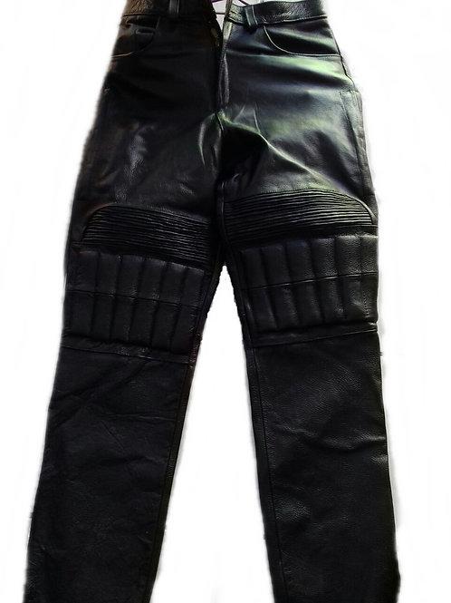 Pantalón de piel para motociclista modelo speed