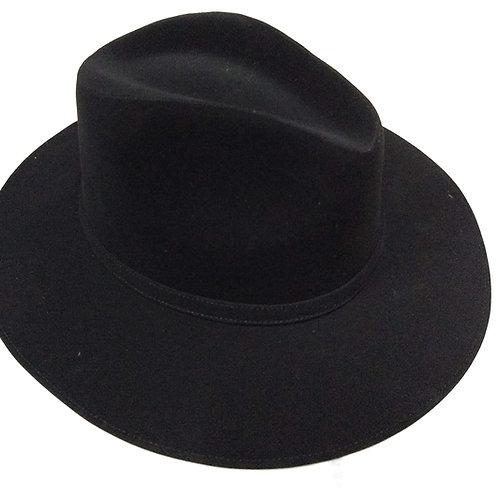 Sombrero gamuza textil negro