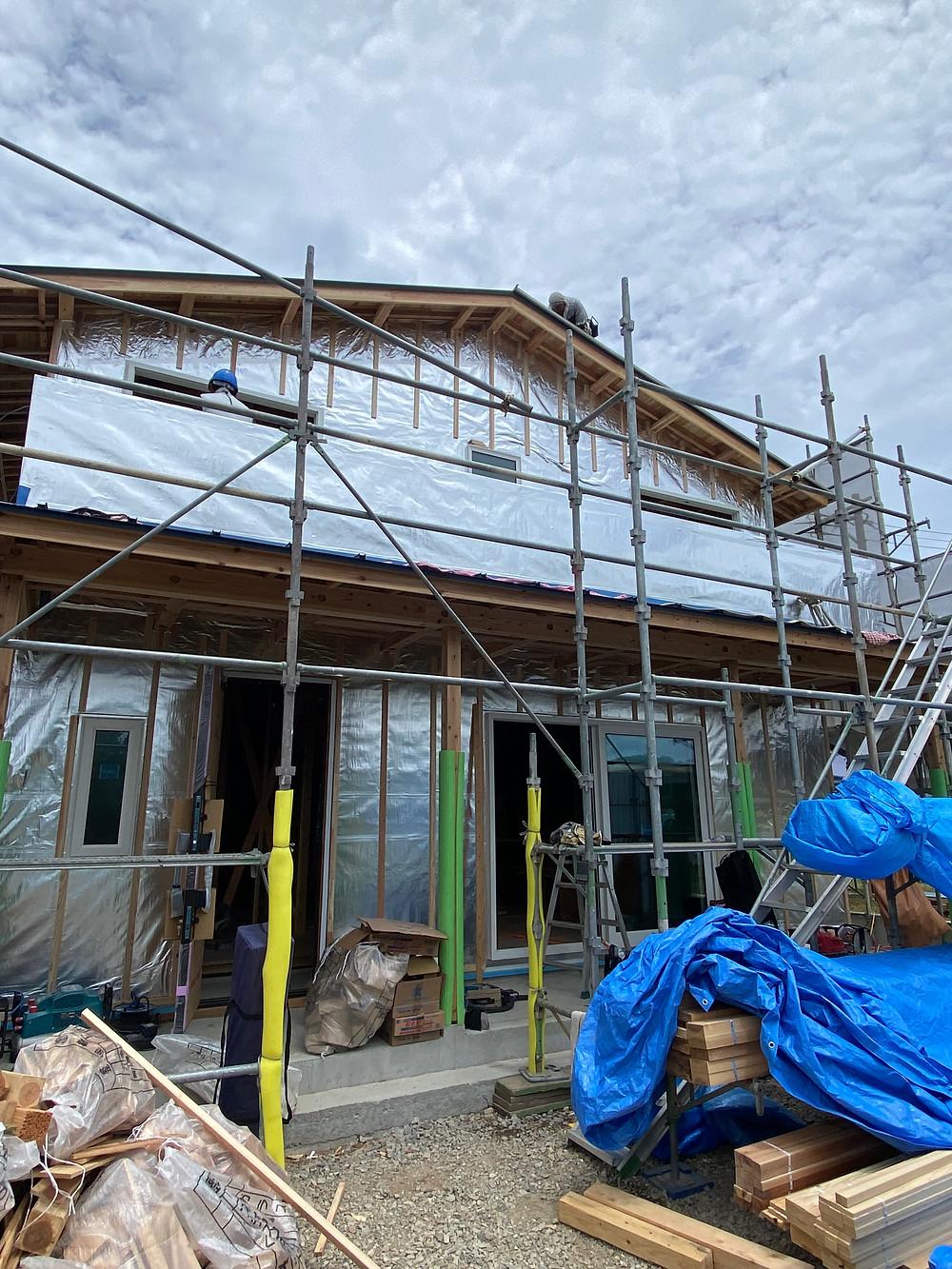 長崎県諫早市で新築工事