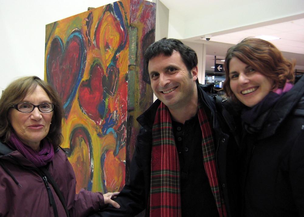 Leya's Hearts at the airport