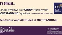 "We're ""GOOD"" with ""OUTSTANDING"" qualities! Ofsted 2019"