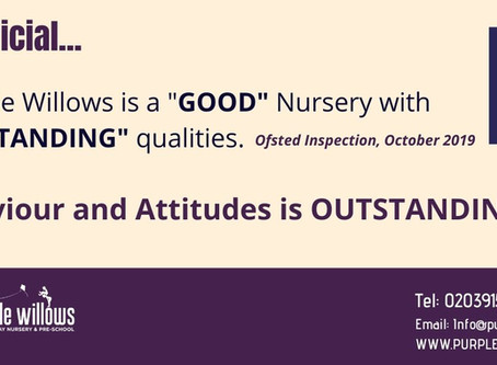 """We're """"GOOD"""" with """"OUTSTANDING"""" qualities! Ofsted 2019"""