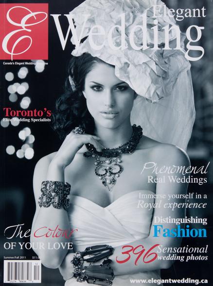 Cover of Elegant Wedding Magazine where Little Blue Lemon toronto wedding photographer is published