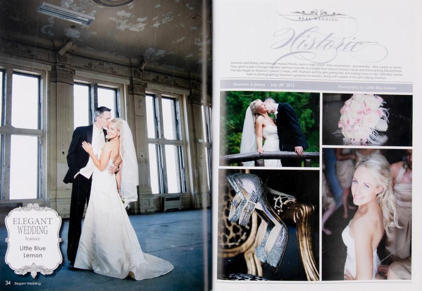 Top wedding photographers Toronto Little Blue Lemon publish wedding at old Crystal Ballroom