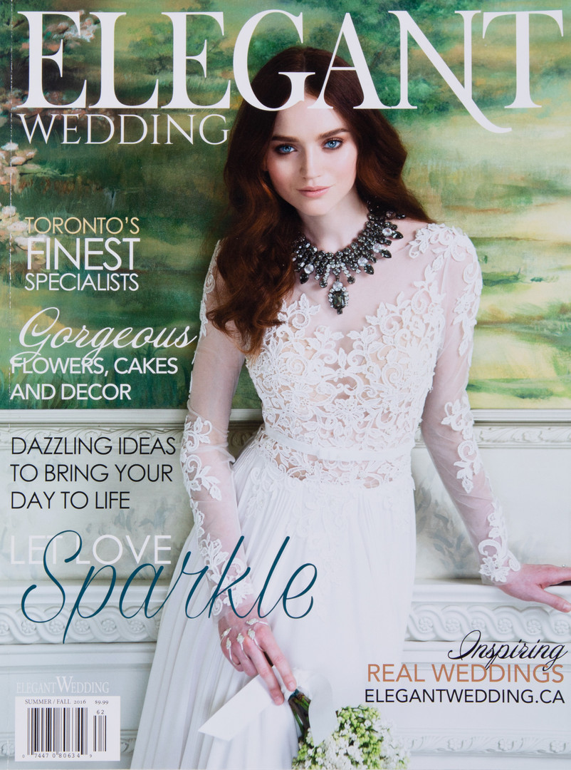 Cover of Elegant Wedding Magazine where Little Blue Lemon toronto wedding photographer is published