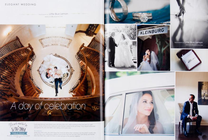 Toronto wedding photographer Little Blue Lemon published luxury bride in Valencienne gown