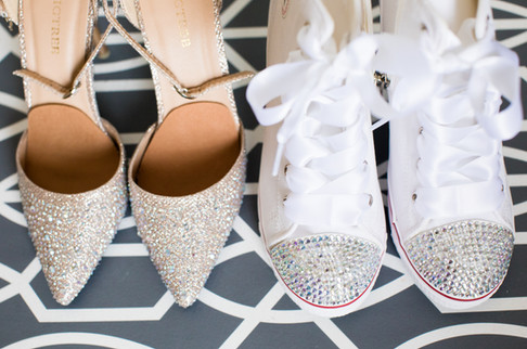 Best wedding photographers Toronto Little Blue Lemon captures Sparkly flast and heels for a bride and her wedding
