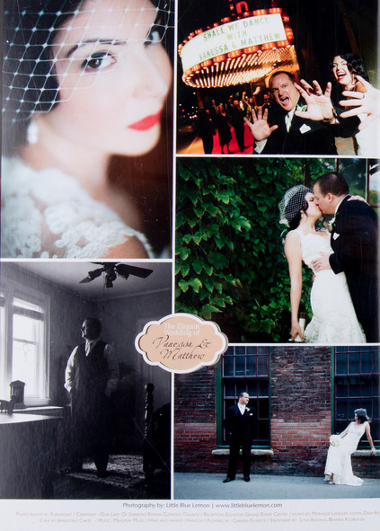 Best wedding photographers Toronto Little Blue Lemon publish luxury wedding movie star theme wedding