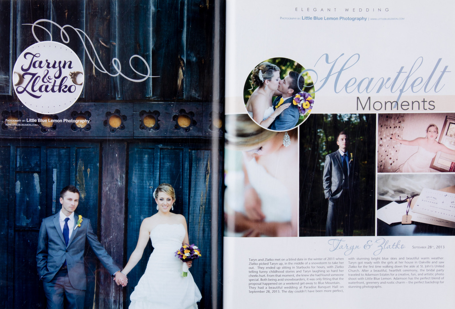 Toronto wedding photographer Little Blue Lemon published luxury wedding, Adamson Estate