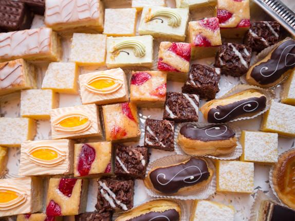 a wedding dessert spread, edible art