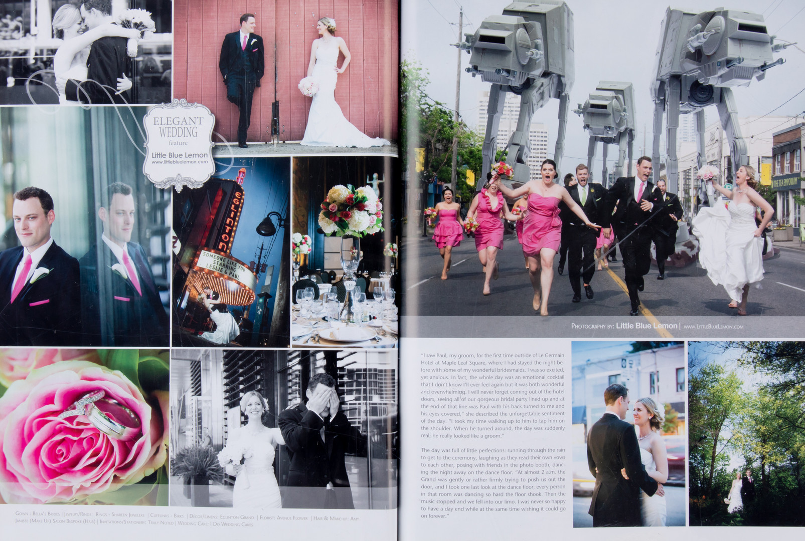 Best wedding photographers Toronto Little Blue Lemon publish famous Star Wars AT-AT photo