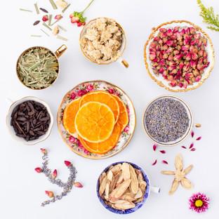 The ingredients in Bodhi Tree Health Clinics artisan tea