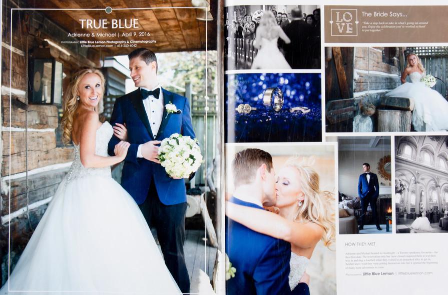 Toronto wedding photographer Little Blue Lemon published wedding photos of bride in Kenneth Winston