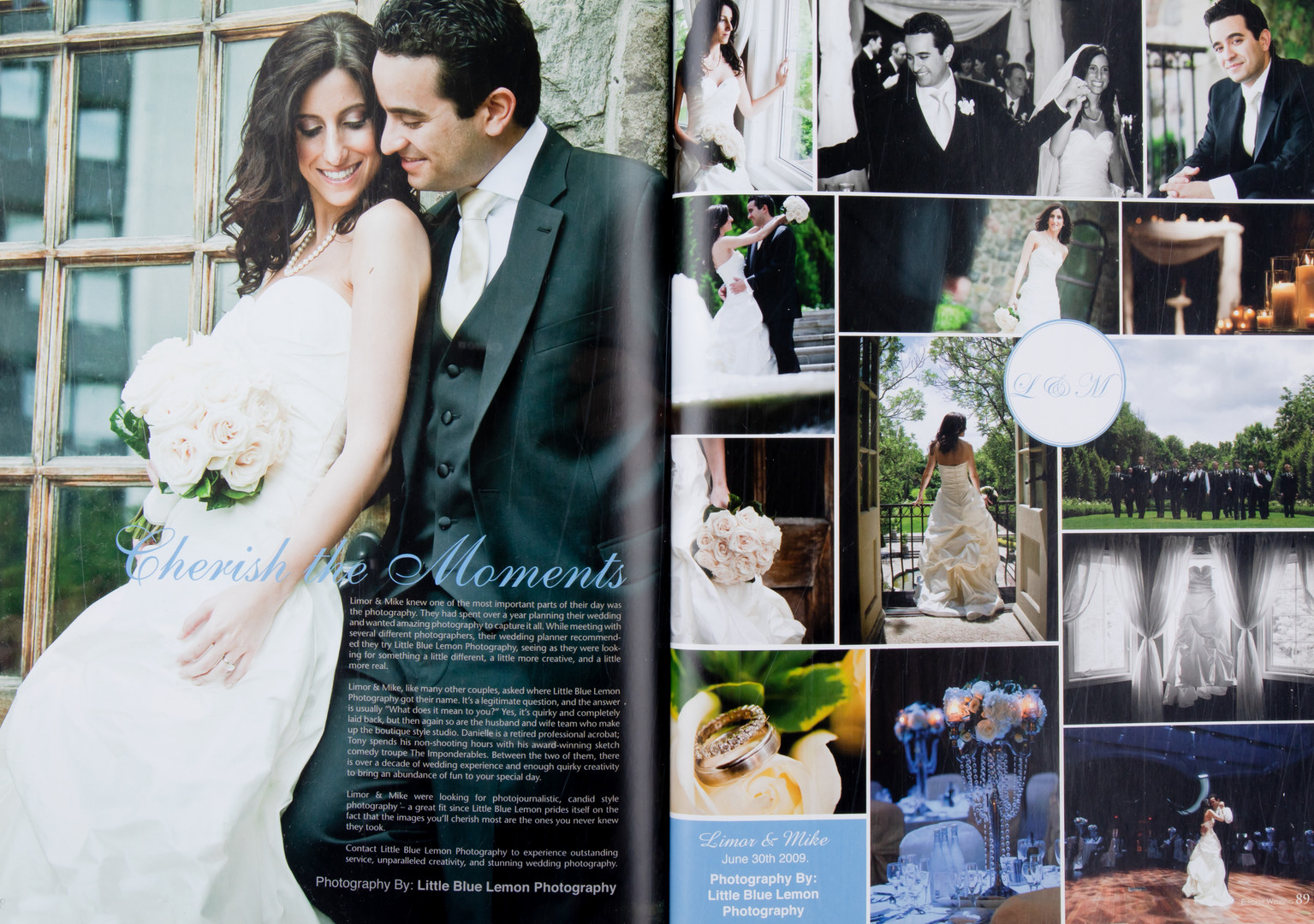 Luxury wedding published in Elegant Wedding Magazine of bride & groom at Graydon Hall & Paramount, Toronto