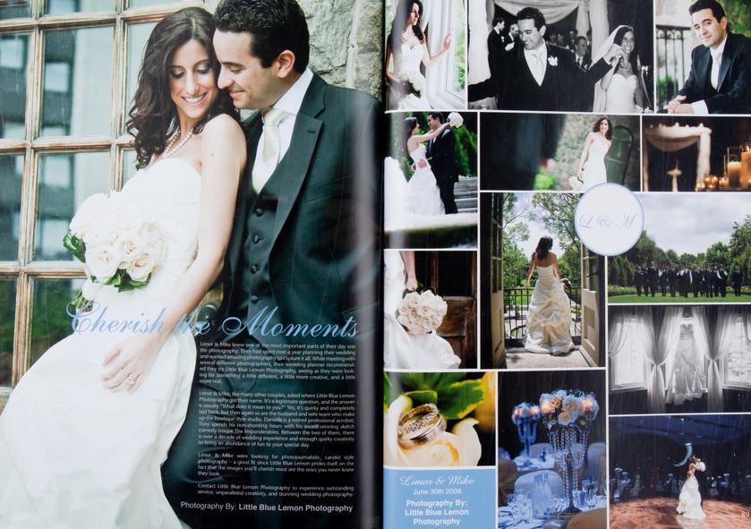 Luxury wedding published in Elegant Wedding Magazine of bride & groom at Graydon Hall & Paramount, Toronto