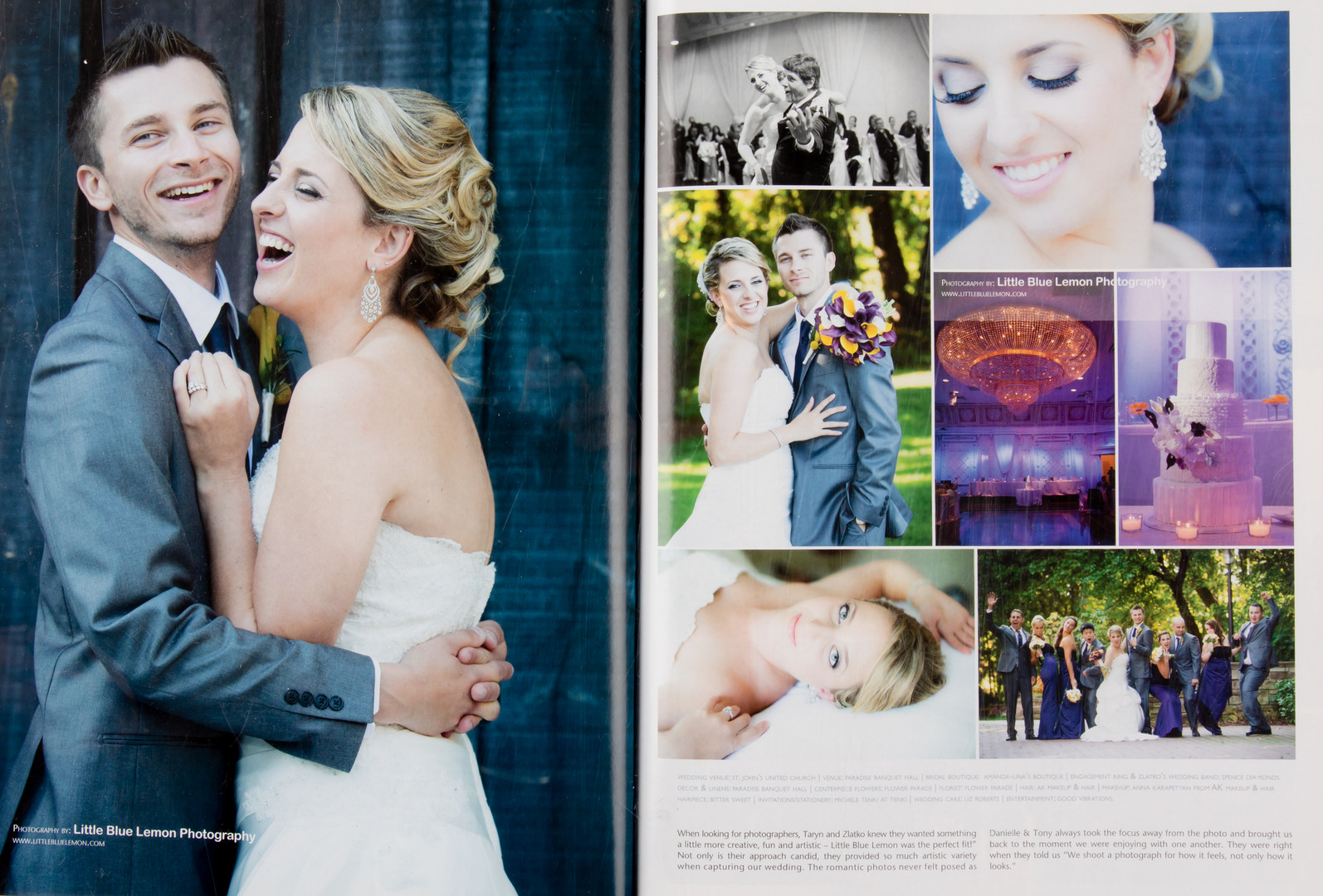 published luxury wedding, Adamson Estate, in Elegant Wedding Magazine